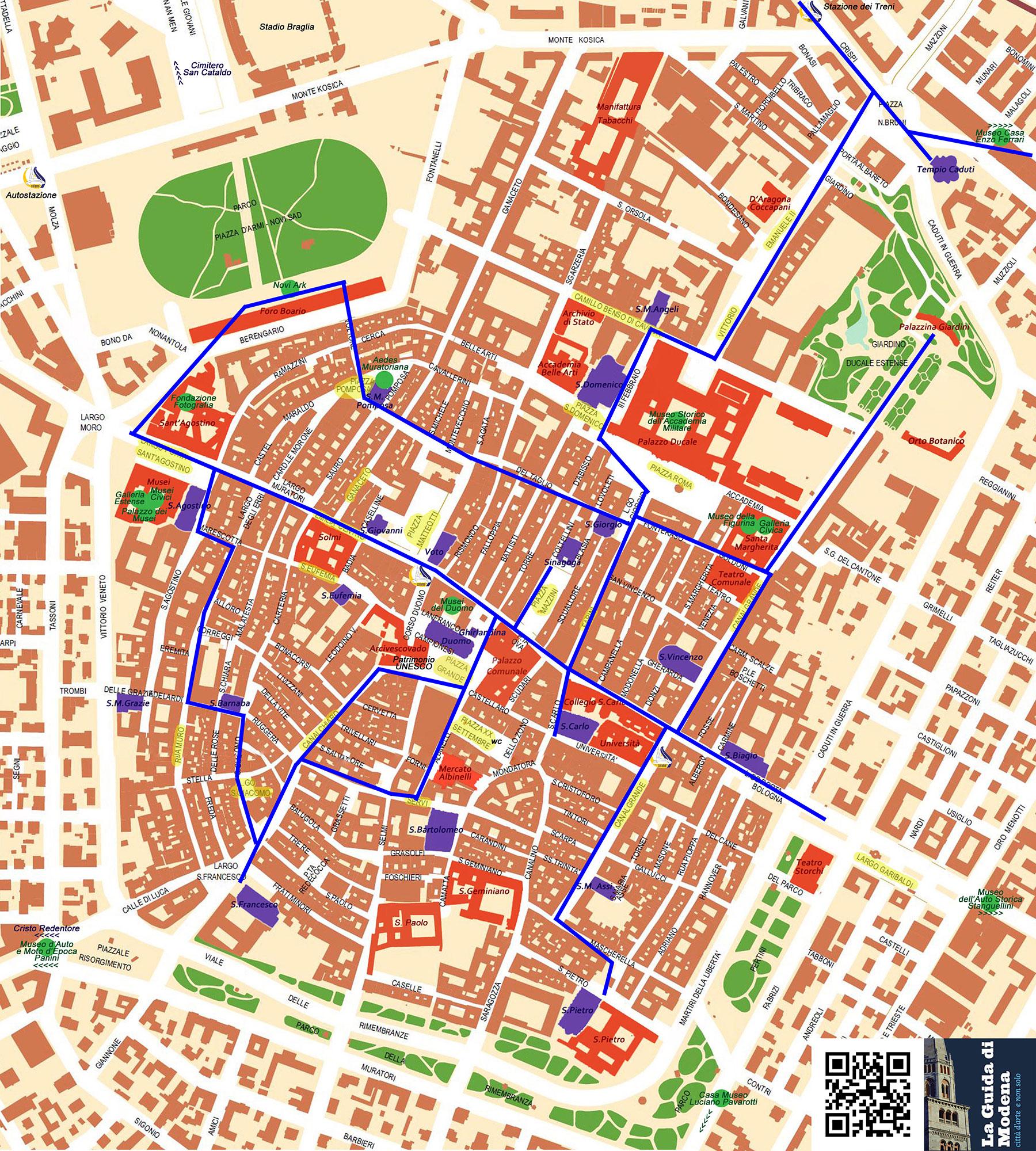 Modena map Modena City Guide